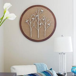 'Tree and Bird' Round Wall Art