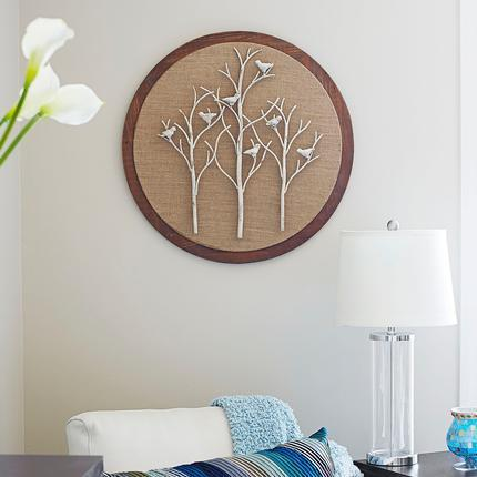 Shop \'Tree and Bird\' Round Wall Art - Free Shipping Today ...