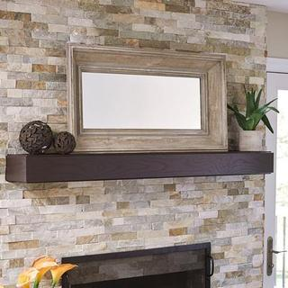 Grey Distressed Wood Rectangle Wall Mirror