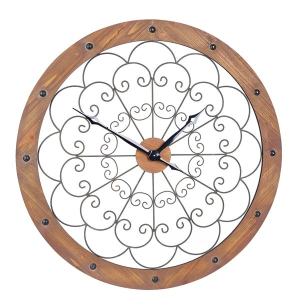 Large Scroll Wall Clock