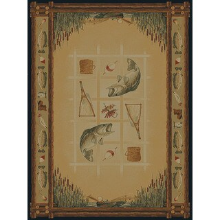 Ridgeland Fish Border Accent Rug (1'10 x 3')