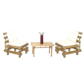 Handmade 4 Piece Payang Chairs and Rectangular Table Set (Vietnam)