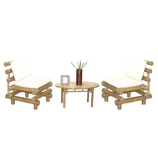 5 Piece Payang Chairs and Oval Table Set (Vietnam)