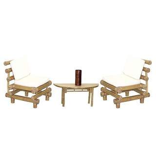 Handmade 40Piece Payang Chairs and Semi Round Table Set (Vietnam)
