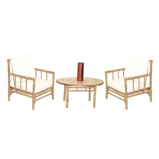 Handmade 4 Piece Chai Chair and Round Table Set (Vietnam)