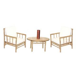 Handmade 4 Piece Chai Chair and Round Table Set (Vietnam)