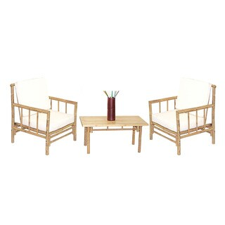 Handmade 4 Piece Chai Chairs and Rectangular Table Set (Vietnam)