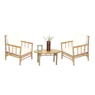 Handmade 5 Piece Chai Chairs and Oval Table Set (Vietnam)