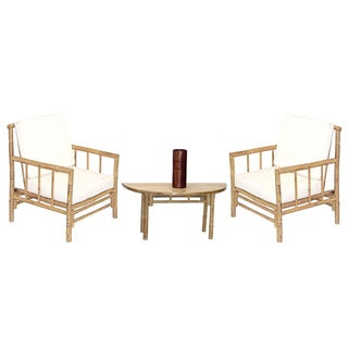 Handmade 4 Piece Chai Chairs and Semi Round Table Set (Vietnam)