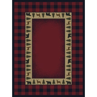 Ridgeland Buffalo Plaid Accent Rug (1'10 x 3')