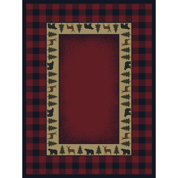 Shop Ridgeland Buffalo Plaid Accent Rug 1 10 X 3 1 On