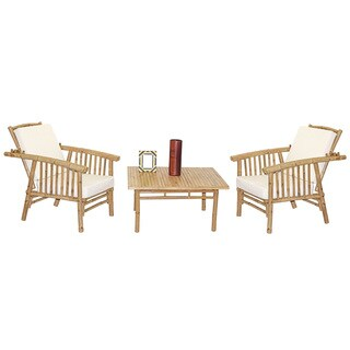 Handmade 5 Piece Mikong Chairs and Square Table Set (Vietnam)