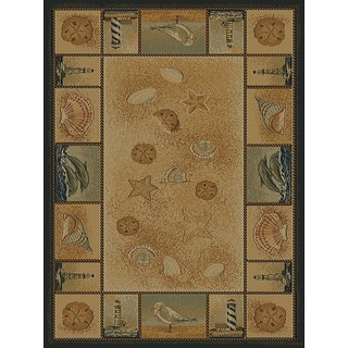 Ridgeland Nautical Border Runner Rug (1'11 x 7' 4)