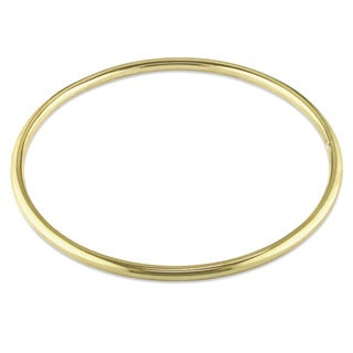 Miadora Classic Bangle in Yellow Plated Sterling Silver