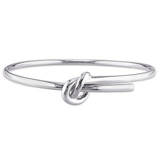 Wrap-Around Knot Bangle in Sterling Silver by Miadora