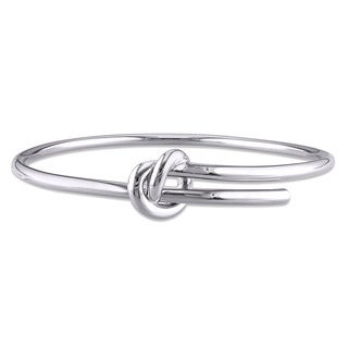 Miadora Wrap-Around Knot Bangle in Sterling Silver