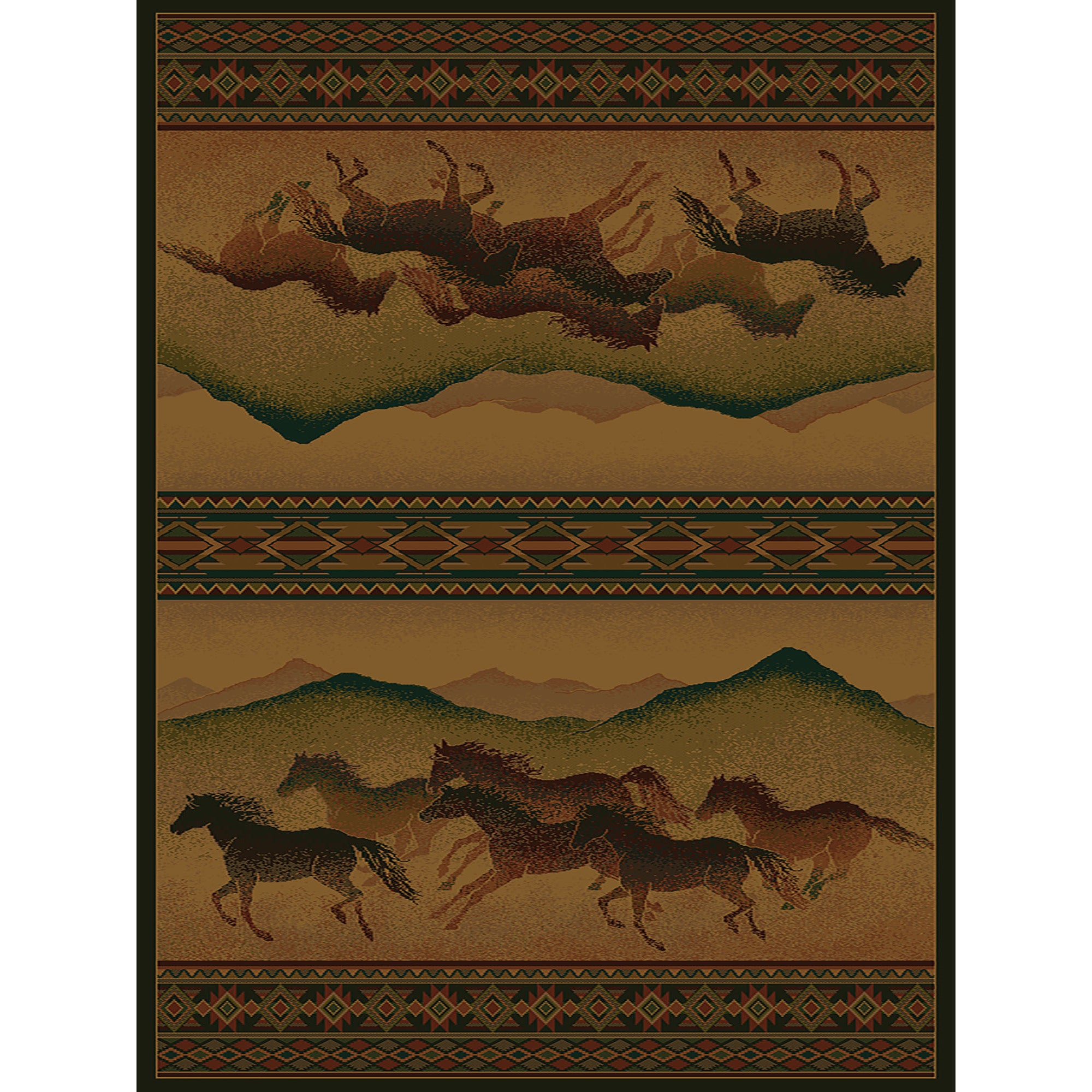 Westfield Home Ridgeland Galloping Horses Multicolored Po...