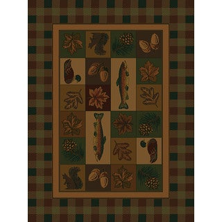 Ridgeland Fisherman's Lodge Accent Rug (3'11 x 5'3)