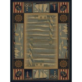 Ridgeland Sailor's Border Accent Rug (3'11 x 5'3)