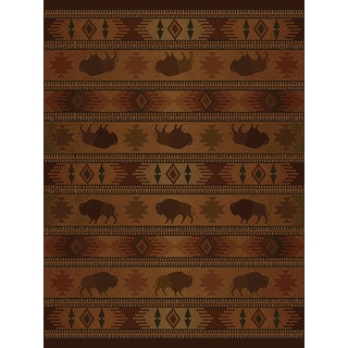 Ridgeland Buffalo Country Accent Rug (3'11 x 5'3)