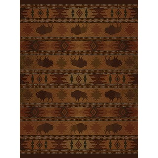Ridgeland Buffalo Country Accent Rug - 3'11 x 5'3