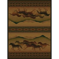 Westfield Home Ridgeland Multicolor Polypropylene Galloping Horses Accent Rug - 3'11 x 5'3