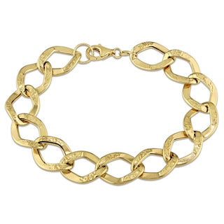 Geometric Link Bracelet in 18k Yellow Gold by The Miadora Signature Collection
