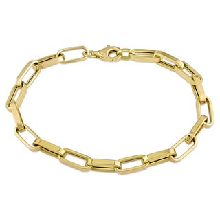 Geometric Link Bracelet in 18k Yellow Gold by Miadora
