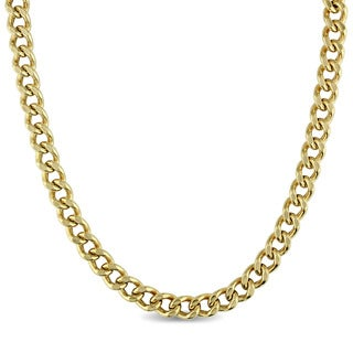 Linked Chain Necklace in 10k Yellow Gold by The Miadora Signature Collection