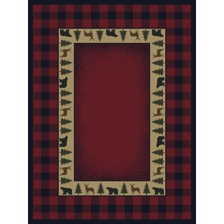 Ridgeland Buffalo Plaid Area Rug (5'3 x 7'6)