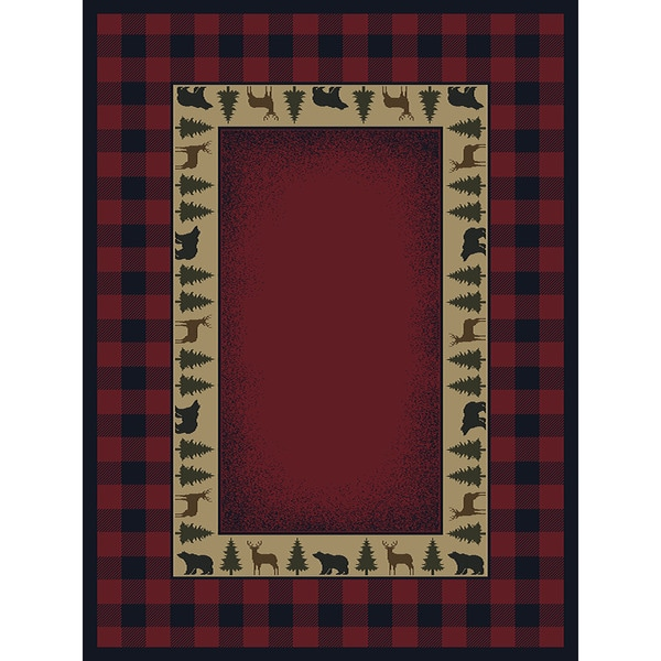 Shop Ridgeland Buffalo Plaid Area Rug 5 3 X 7 6 On