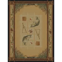 Ridgeland Fish Border Area Rug - 8' x 11'
