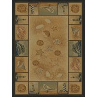 Ridgeland Nautical Border Area Rug - 8' x 11'