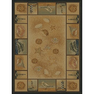 Ridgeland Nautical Border Area Rug (7'10 x 10'6)