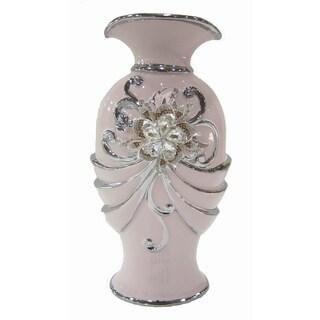D'Lusso Designs Pink Ceramic Bling-design Vase