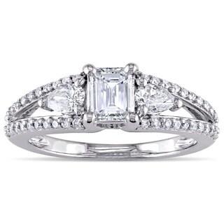 Miadora 14k White Gold 7/8ct TDW Diamond Engagement Ring