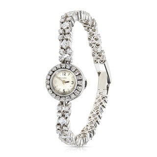 Pre-Owned Ladies Vintage 1950s Jaeger-LeCoultre Platinum & Diamond Manual Watch, 4.00 CTW
