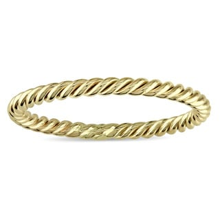 Miadora Twisted Wedding Band in 14k Yellow Gold