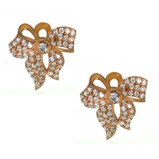 One-of-a-kind Michael Valitutti Cubic Zirconia Bow Stud Earrings