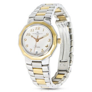 Pre-Owned Baume & Mercier Riviera MV040079 Ladies Watch in 18K Yellow Gold/Steel