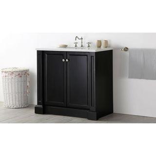 Legion Furniture Quartz Top 36-inch Espresso Single Bathroom Vanity