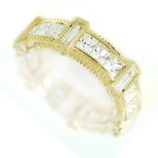 One-of-a-kind Michael Valitutti 14k Cubic Zirconia Eternity Band Ring