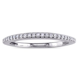 Miadora 14k White Gold 1/10ct TDW Diamond Wedding Band (G-H, I1-I2)