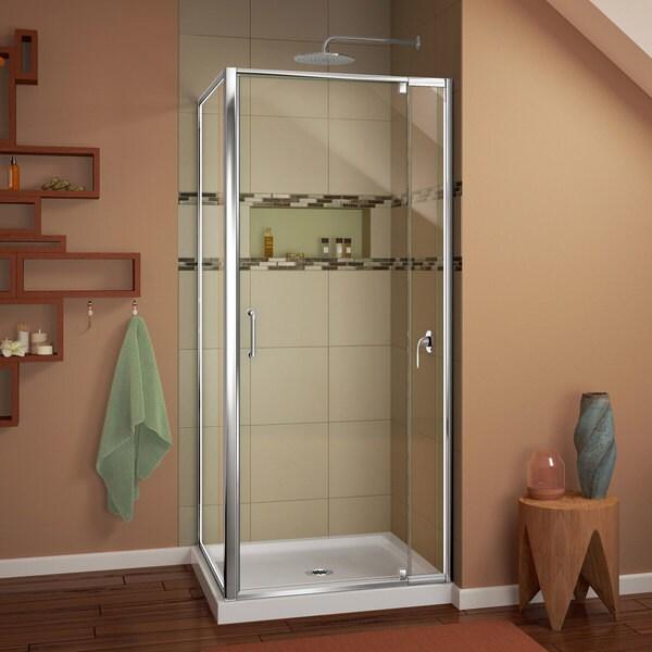 DreamLine Flex 32-in. W x 32-in. D x 74-3/4-in. H Frameless Shower ...