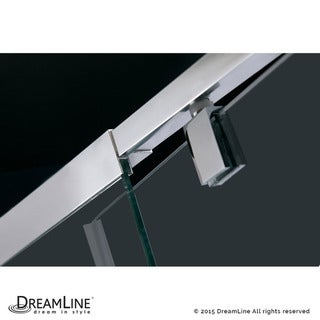 DreamLine Flex 36-in. W x 36-in. D x 74-3/4-in. H Frameless Shower Enclosure and Base Kit
