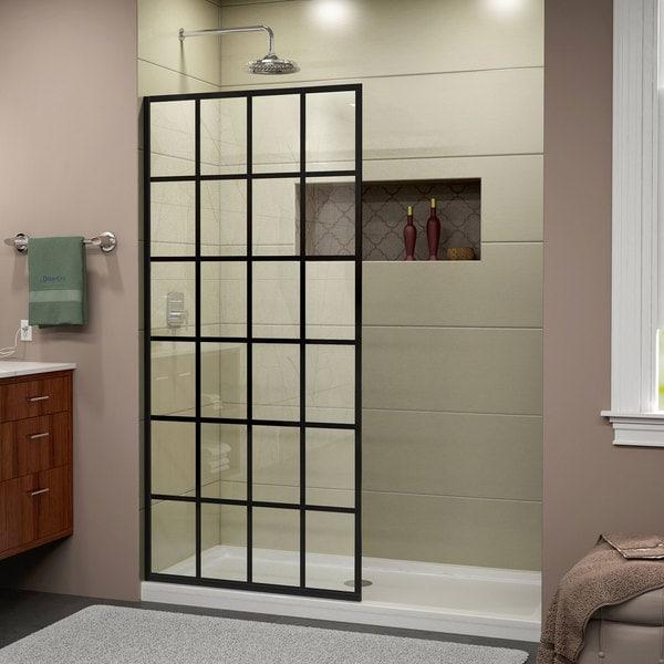 Shop French Linea Frameless Shower Door 34 In X 72 In Open Entry