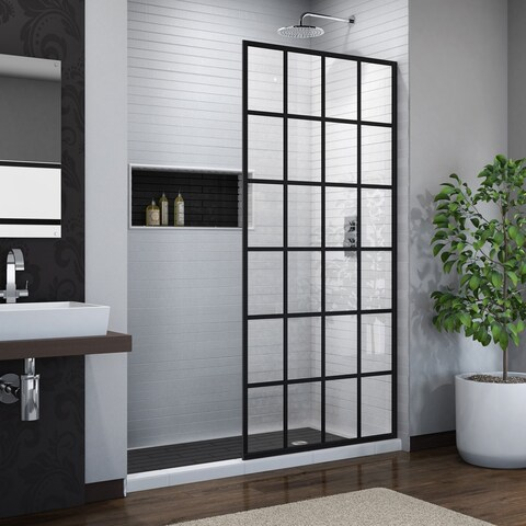DreamLine French Linea Toulon 34 in. W x 72 in. H Single Panel Frameless Shower Door, Open Entry Design