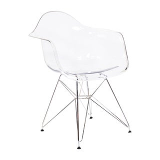 Eames Style Molded Plastic Armchair