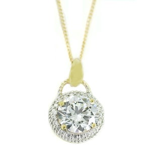 One-of-a-kind Michael Valitutti 14k Cubic Zirconia Pendant
