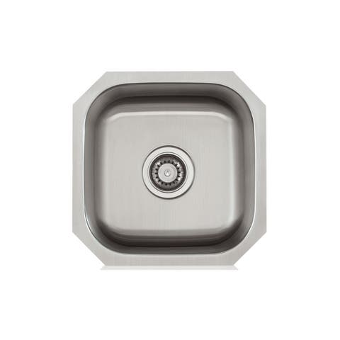Stainless Steel 16X16 inch Bar Sink - Stainless Steel - 16 x 16